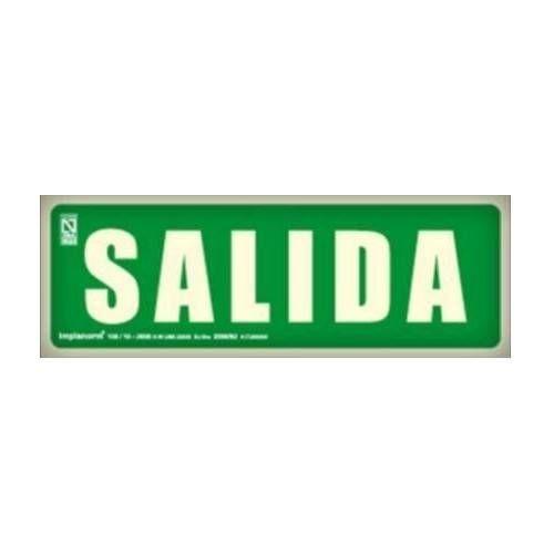 Señal SALIDA 10.5 x 10.50 cm