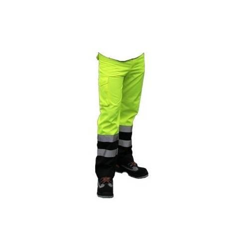 Pantalón combinado alta visibilidad con forro