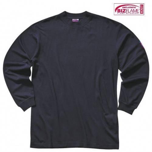 Camiseta ignífuga y antiestática manga larga