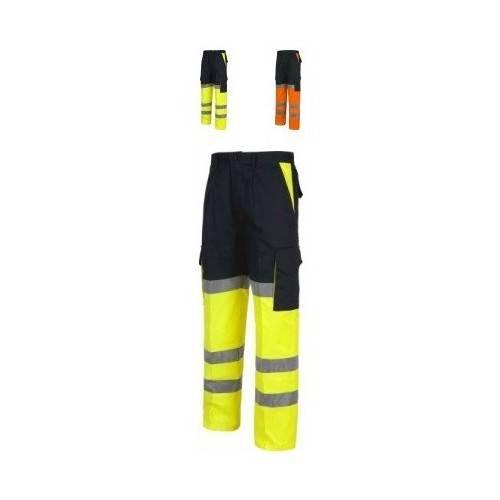 Pantalón alta visibilidad multibolsillos bicolor C3214