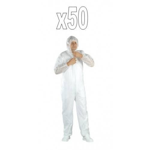 Pack 50 buzos desechable PE