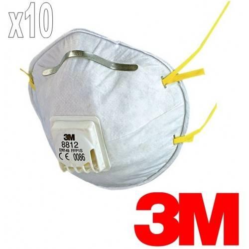 Pack 10 mascarilla antivirus 3M 8812 FFP1 con válvula