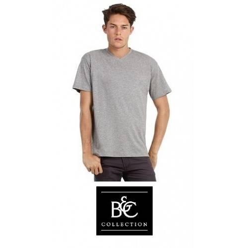 Camiseta manga corta cuello pico B&C 150V