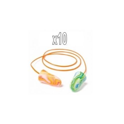 Pack 10 pares MOLDEX Spark Plugs con cordón