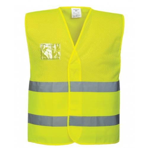 Chaleco alta visibilidad malla amarillo