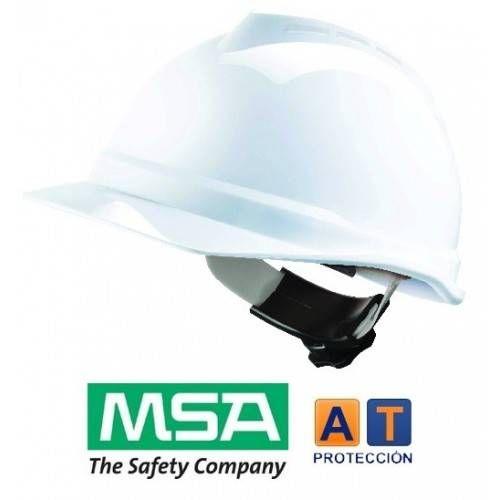 Casco MSA V-Gard 500 Fas-Trac.
