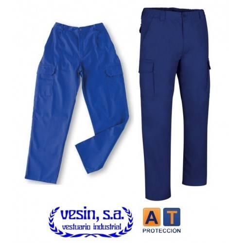 Pantalón de trabajo 100% algodón multibolsillos ECO