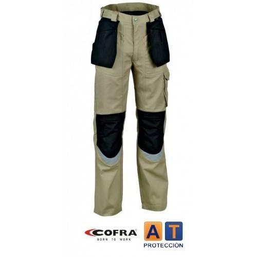 Pantalón COFRA Carpenter beig-negro