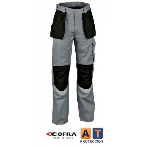 Pantalón COFRA Carpenter gris-negro