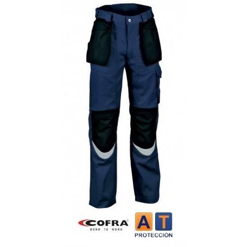 Pantalón COFRA Carpenter azul-negro